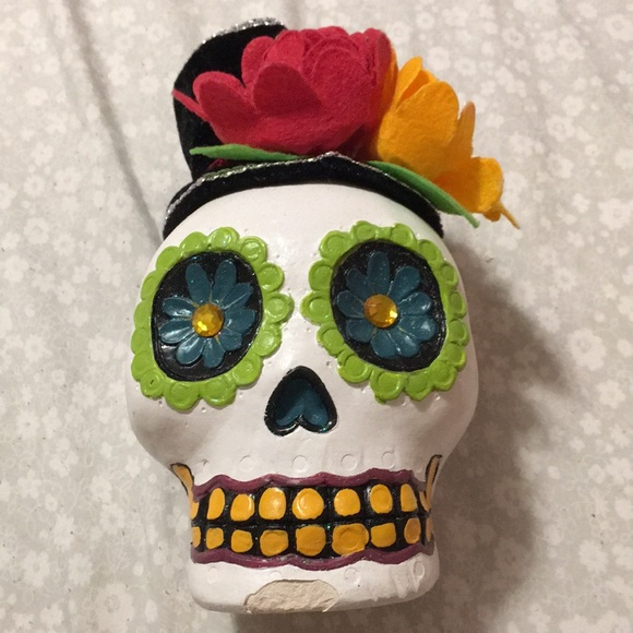 Other - colorful skull home/room decor